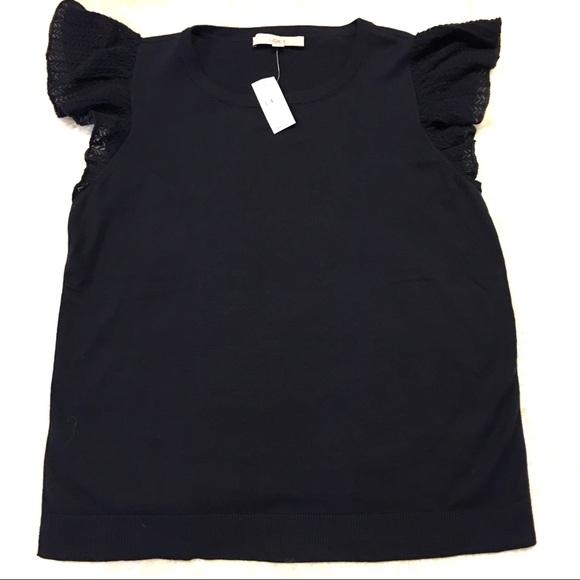 Loft Tops - Loft NWT Navy Blue Knit Cap Sleeve Shirt